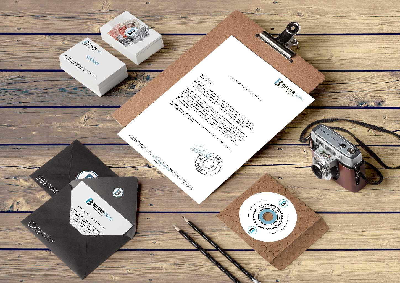 Bilderfarm Logo und Geschaeftspapiere